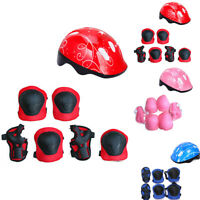 Boys Girl Roller Skate Cycling Bike Safe Helmet Knee Elbow Pad Kids Gift