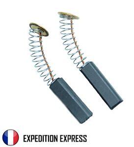 Paire de charbons pour moteur électrique 6 x 6 x 20 mm Universel Balais Brosses