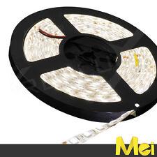 B014 STRISCIA LED 300 SMD 5050 5MT STRIP IMPERMEABILE IP65 12V luce NEUTRA 4500K