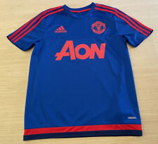 New listing Boys Adidas Manchester United Soccer Jersey Size Youth Large England Blue