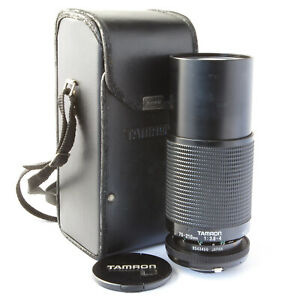 TAMRON ADAPTALL 70-210MM F3.8-4.0 MACRO ZOOM LENS WITH FRONT CAP & CASE - GOOD