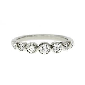 Authentic Tiffany & Co 950 Platinum Jazz Graduated Diamond Band Ring Size 5