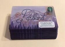 2017 Starbucks Portland Card - Lot of 25