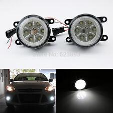 18W High Power 6-LED Fog Light Lamps w/ Halo Rings Fit Acura Honda Ford Subaru..