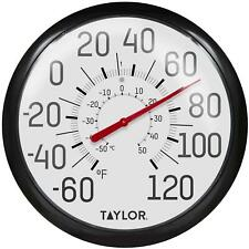 """Taylor Indoor Extra Large Outdoor Thermometer Dial Patio Temperature Home 13.25"""""""