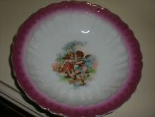 Carl  Tielsch  Fruit Serving Bowl   German porcelain  Putti  Cherub circa 1890