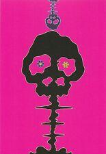 "Takashi Murakami   Kaikai Kiki   ""Pink Skereton"" Postcard, 2001, 17,5 x 12 cm"