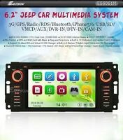 AUTORADIO GPS ERISIN JEEP GRAND CHEROKEE WRANGLER COMPASS SD USB DVD 3G