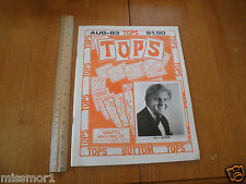 Tops Magic monthly magazine August 1983 Billy McComb tricks Magicians