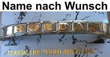 Bracelet Honda Acier Inoxydable Plaqué or Nom Désiré S'Adapter pour Nomination