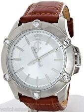 Juicy Couture Women's 1900940 Stainless Steel Case Brown Leather Strap Watch