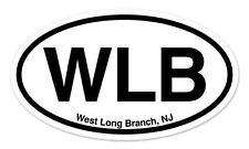 "WLB West Long Branch New Jersey Oval car window bumper sticker decal 5"" x 3"""