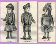 PATRON LA MODE ILLUSTREE, vêtement poupée ancienne, n° 44 de 1889, DOLL PATTERN