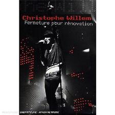 31448 // CHRISTOPHE WILLEM FERMETURE POUR RENOVATION  2 DVD EN TBE