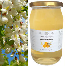 100% Raw Pure ACACIA HONEY - Unheated, Unpasteurized, Unfiltered,Unprocessed 1kg