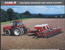 "CASE IH ""1200 Series"" Advanced Seed Meter Planter Brochure Leaflet"