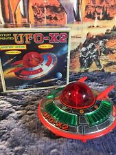 Daiya Space Ship Japanese UFO-X2 Tin And Plastic 1960s Battery Operated