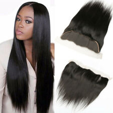 "13""X4"" Brazilian Lace Frontal Closure Straight 100% Virgin Human Hair Extensions"