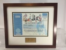 THE WALT DISNEY COMPANY STOCK CERTIFICATE 1 SHARES 2002 WITH COA