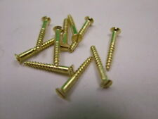 """Small solid brass screws, pack of 10 No.2 x 5/8"""" (2 x 16mm) countersunk slotted"""