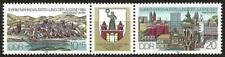 Germany (East) DDR GDR 1984 MNH Youth Stamp Exhibition Magdeburg se-tenant label