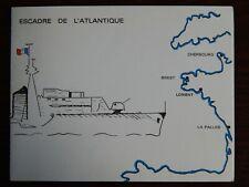 Vintage postcard French Atlantic Squadron 1958