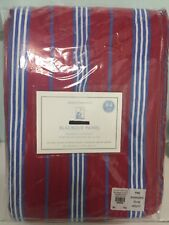 Pottery Barn Kids Red and Blue Classic Stripe Blackout curtain 44 x 84 inches