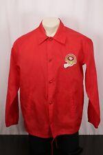 Vintage SIR JAC San Francisco 49ers Snap Windbreaker Jacket -Red -Fits M's Large