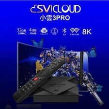 Newest SVICloud 3PRO TV Box Free Lifetime 8K/4G+32G/Voice-Search UHD IPTV Box