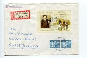 6728) DDR 1986 Reg. Mail von Weber S/S