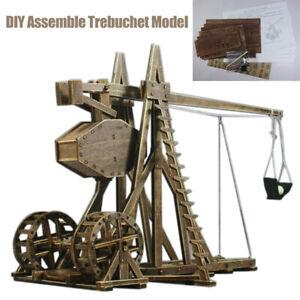 Wooden Assemble Trebuchet Precision Model Children Educational Toy Home Decor '