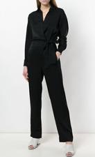 VINCE - Cross Front Jumpsuit - Black - Size Medium MSRP  $495