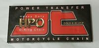 Motorcycle Chain JT 428 x 118 Links O Ring Gold & Black HPO
