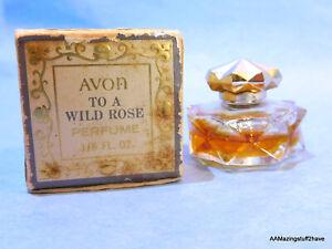 AVON To Be a Rose Perfume 1/8 oz Bottle w/ Original Box 1/2 Full