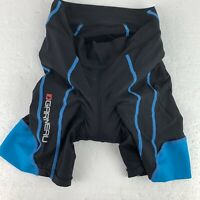 NICE LOUIS GARNEAU LG Men's Cycling Padded Shorts Medium M Black Blue Bicycle