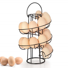 Spiral Egg Skelter Dispenser Rack Metal Storage Holder Safe And Stylish Rack