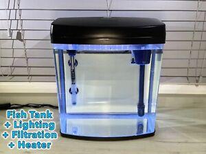 35 Litre Aquarium Glass Fish Tank. Full Set Up. Lighting + Filter + Heater
