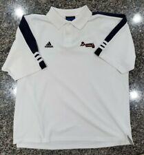 Vintage 90s Adidas Team Atlanta Braves Polo Shirt Size L Mlb Baseball