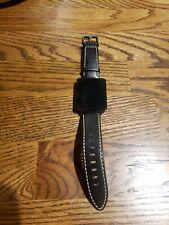 Genuine LG Watch LG-W100 Smart Watch - Black leather..read listing