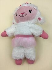 "Disney Doc McStuffin Lambie White Plush Sheep Toy Animal 9.5"". M"