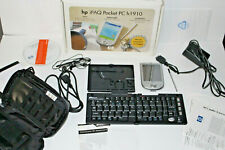 Hp iPaQ H1910 Color Lcd Pocket Pc Backlit Pda Loaded w Case Keyboard Earbuds +