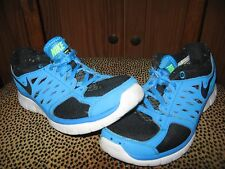 Nike Kids FLEX 2013 RUN shoes Blue Black Size 4Y GUC
