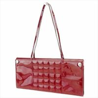 Chanel Bag Handbag Red Enamel leather Woman Authentic Used T8766
