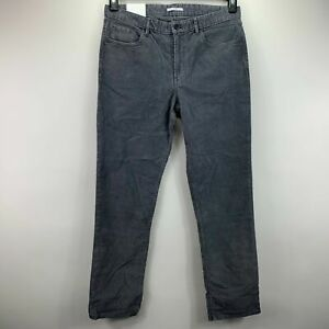 Calvin Klein Mens Slim Fit Stretch Corduroy Pants Gray 33x32