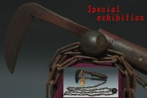 Japan Antique kusarigama Jitte kabutowari yoroi samurai katana sword Edo Ninja