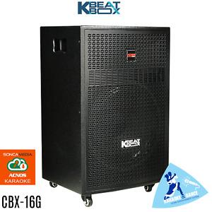 CBX-16G KBEATBOX POWERED KARAOKE SYSTEM SPEAKER + 2 WIRELESS MICS - 100 WATTS