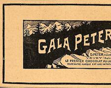 VEVEY CHOCOLAT GALA PETER PETITE PUBLICITE 1905