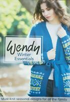 Wendy Winter Essentials Knitting Pattern Book 12 Designs Fair Isle Cable Family