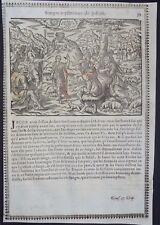 Gravures sur bois Woodcut print Jean Cousin Figures de la Sainte BIBLE Folio 39