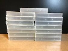 More details for 15 empty vhs video tape clear plastic storage cases boxes craft hobbies